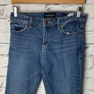 Lucky Brand Jeans Size 6 Ava Skinny Raw Leg Hems